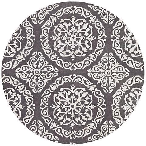 Chandra Satara Gray and Ivory Wool Area Rug