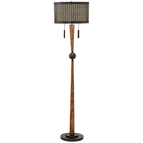 franklin iron works hunter floor lamp 9m634 lamps plus. Black Bedroom Furniture Sets. Home Design Ideas