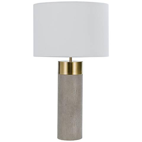 Regina Andrew Design Harlow Gray Faux Shagreen Table Lamp