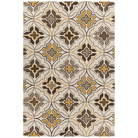 Chandra Terra Cream and Brown Outdoor Area Rug