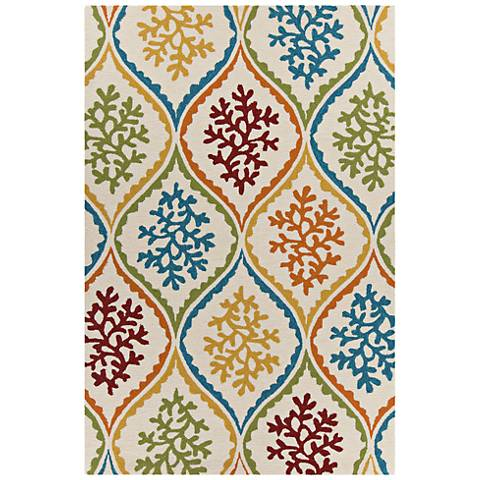 Chandra Terra Cream Multi Outdoor Area Rug