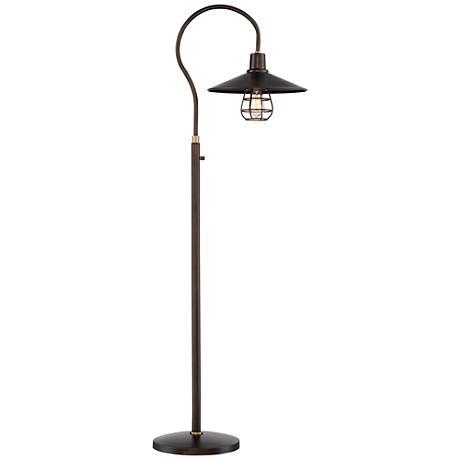 Garryton Industrial Oil-Rubbed Bronze Floor Lamp
