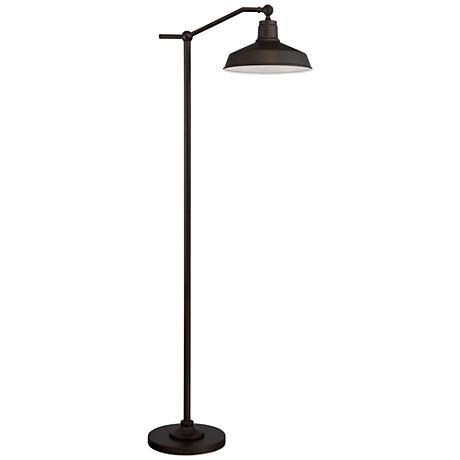 kayne downbridge floor lamp 9m693 lamps plus. Black Bedroom Furniture Sets. Home Design Ideas