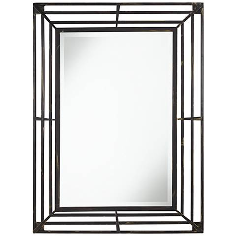 "Ponce 30"" x 40"" Metal Rectangular Wall Mirror"