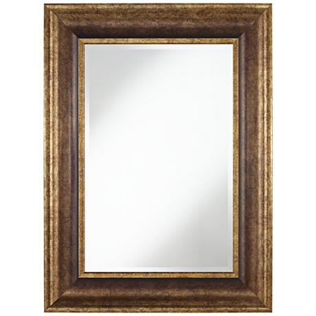 "Keegan Bronze 30"" x 40"" Rectangular Wall Mirror"