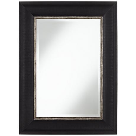 "Keegan Black 30"" x 40"" Rectangular Wall Mirror"