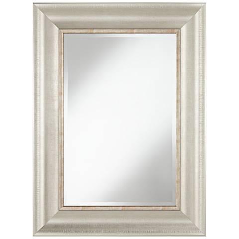 "Keegan Silver 30"" x 40"" Rectangular Wall Mirror"