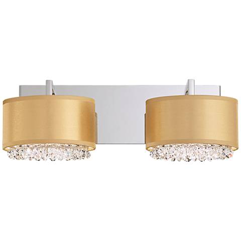 """Schonbek Eclyptix 17"""" Wide Gold 4-Light Bath Light"""