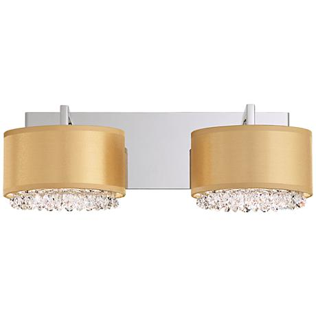 "Schonbek Eclyptix 17"" Wide Gold 4-Light Bath Light"
