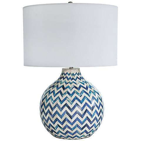 Regina Andrew Design Indigo Bone Chevron Jug Table Lamp