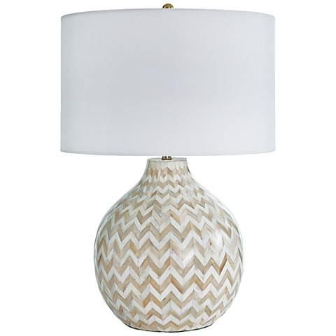 Regina Andrew Design Multicolor Bone Chevron Jug Table Lamp
