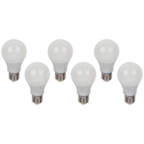 75W Equivalent 11W LED Dimmable Standard Bulb 6-Pack