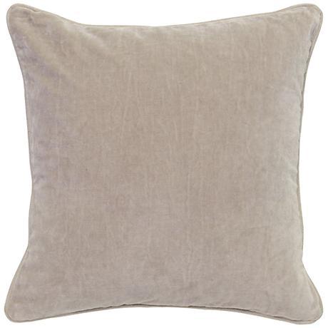 """Grandeur Natural 18"""" Square Cotton Velvet Accent Pillow"""