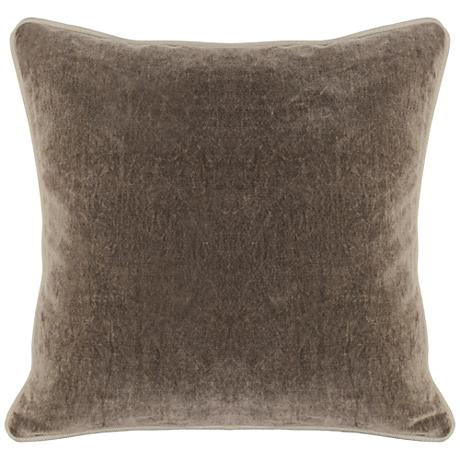 "Grandeur Desert 18"" Square Cotton Velvet Accent Pillow"