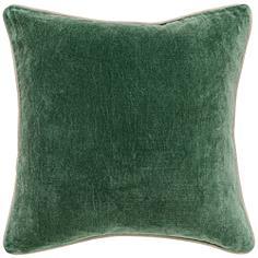 """Grandeur Pine 18"""" Square Cotton Velvet Accent Pillow"""
