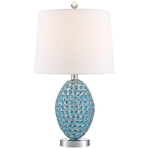 Magda Blue Crystal Table Lamp