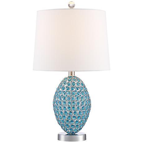 magda blue crystal table lamp 9m860 lamps plus. Black Bedroom Furniture Sets. Home Design Ideas