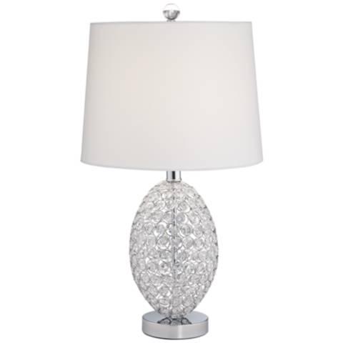 magda crystal table lamp 9m862 lamps plus. Black Bedroom Furniture Sets. Home Design Ideas