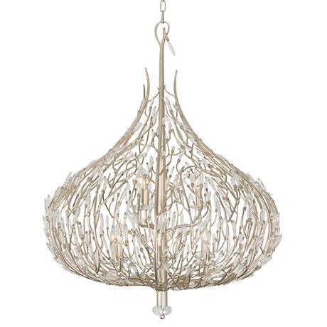 "Varaluz Bask 32"" Wide Gold Dust Crystal Pendant Light"
