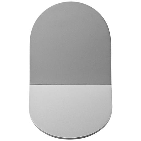 """Tab 9"""" High Textured Gray Outdoor LED Wall Light"""