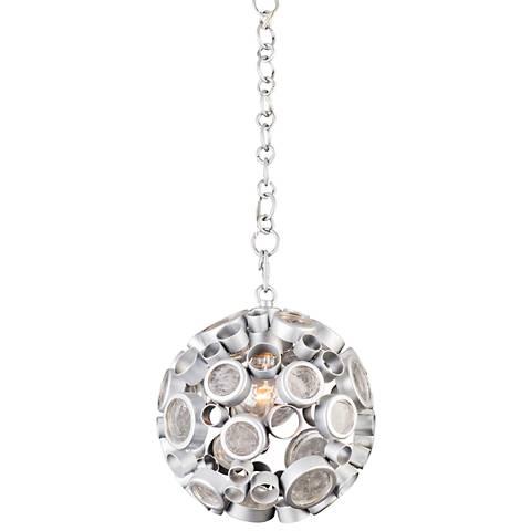 "Varaluz Fascination 10"" Wide Metallic Silver Mini Pendant"