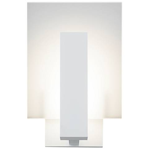 "Midtown 10 3/4""H Textured White Outdoor LED Wall Light"