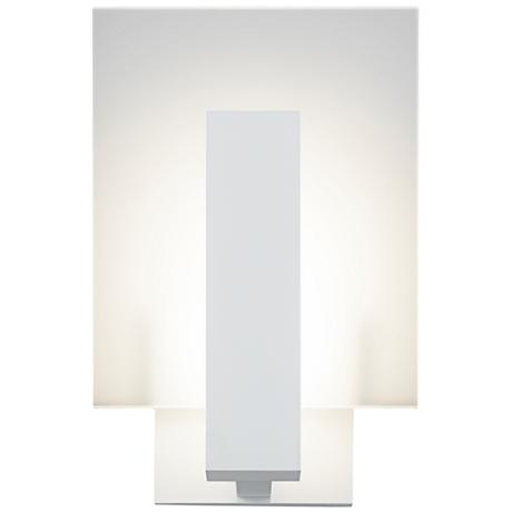 """Midtown 10 3/4""""H Textured White Outdoor LED Wall Light"""