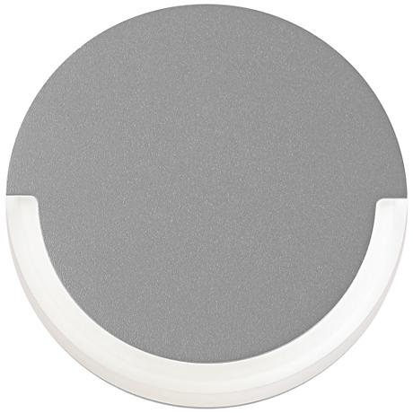 """CRCL 6"""" High Textured Gray Outdoor LED Wall Light"""