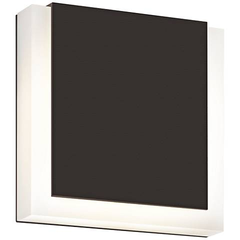 """SQR 7"""" High Textured Bronze Outdoor LED Wall Light"""