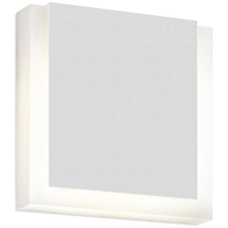 """SQR 7"""" High Textured White Outdoor LED Wall Light"""