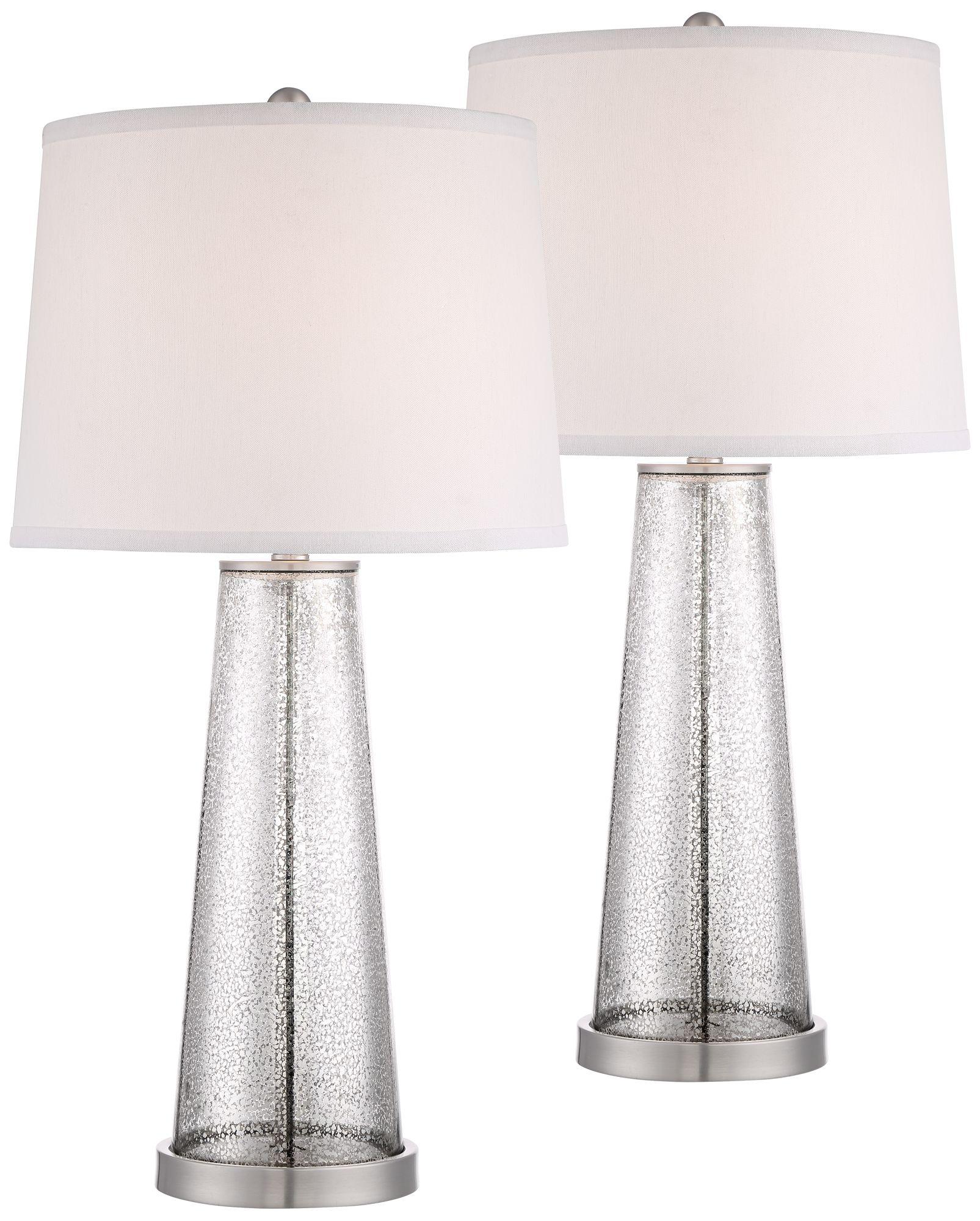 andrea mercury glass table lamp set of 2 - Mercury Glass Lamps