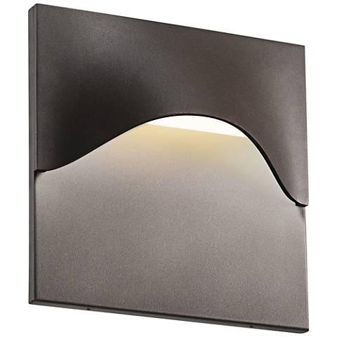 """Sonneman Tides 8""""H Textured Bronze LED Outdoor Wall Light"""