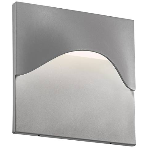 "Sonneman Tides 8""H Textured Gray LED Outdoor Wall Light"