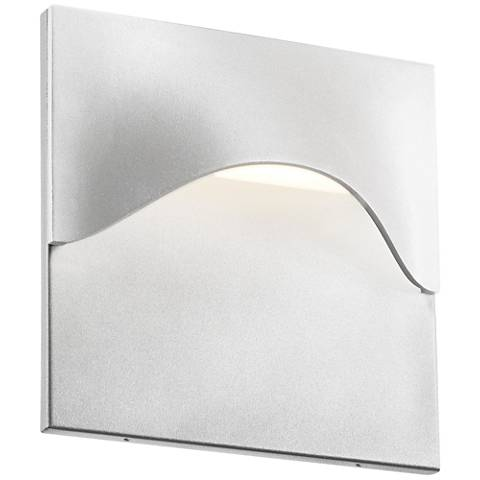 "Sonneman Tides 8""H Textured White LED Outdoor Wall Light"