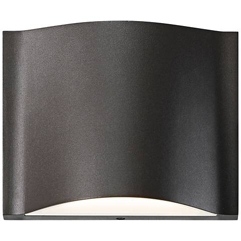 "Drift 4 3/4""H Textured Bronze Dual LED Outdoor Wall Light"