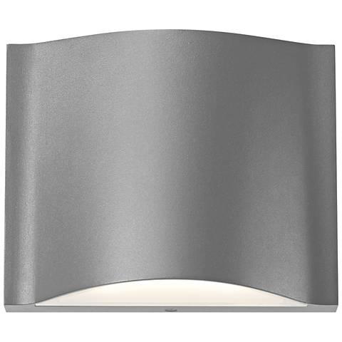 """Drift 4 3/4""""H Textured Gray Dual LED Outdoor Wall Light"""