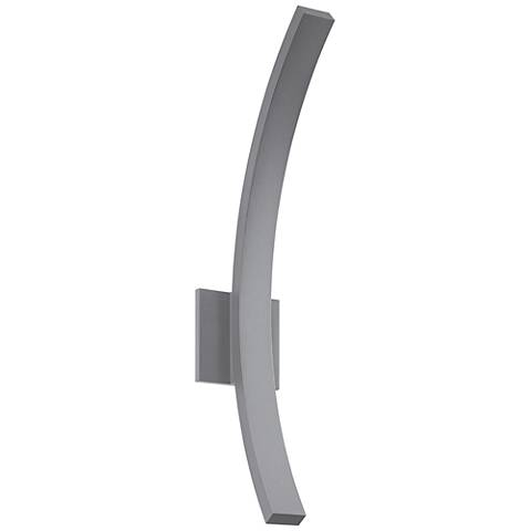 "L'Arc Grand 24""H Textured Gray LED Outdoor Wall Light"