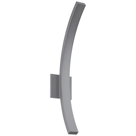 """L'Arc Grand 24""""H Textured Gray LED Outdoor Wall Light"""