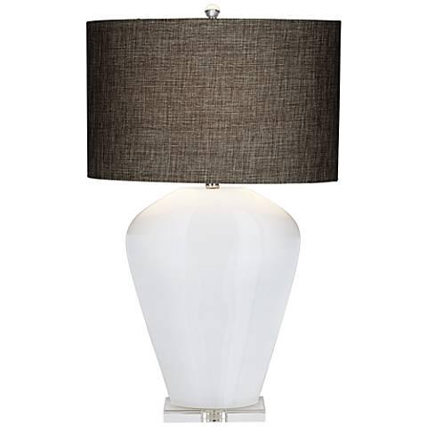 Essie White Glass Table Lamp