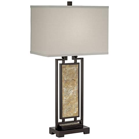 Butano Slate Openwork Table Lamp