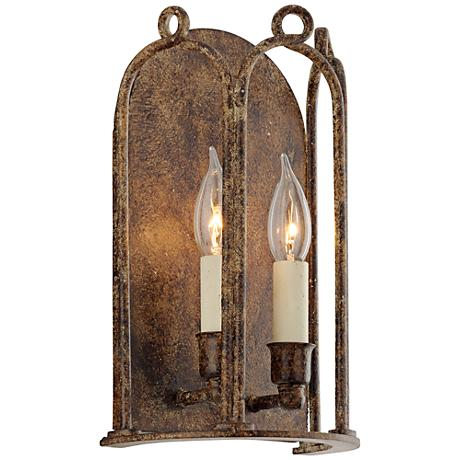 "Carousel 12 1/4"" High Provence Bronze Wall Sconce"