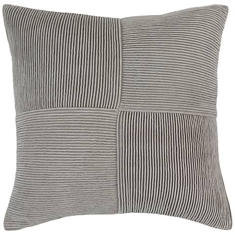 "Surya Conrad Textured Gray 20"" Square Throw Pillow"