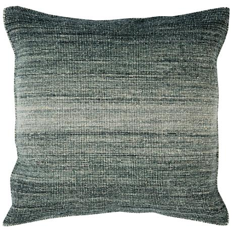 "Surya Chaz Tonal Gray 22"" Square Wool Throw Pillow"