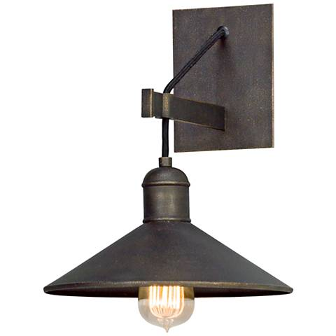 "McCoy 12 1/2"" High Vintage Bronze Wall Sconce"