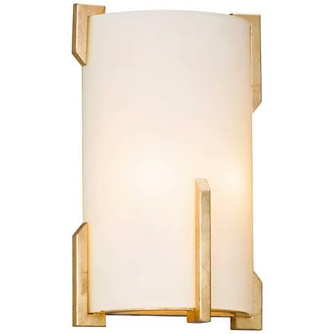 "Quantum 12 1/2"" High Gold Leaf Wall Sconce"