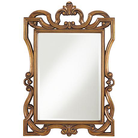 "Penelope Gold 30 1/4"" x 45"" Rectangular Wall Mirror"