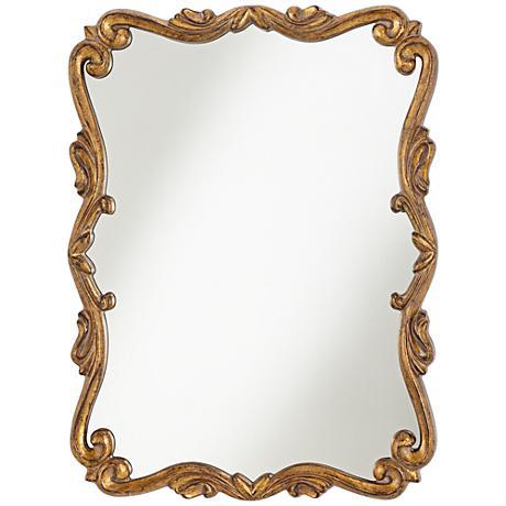 "Caprice Bronze Scroll 24 1/4"" x 32 1/2"" Wall Mirror"