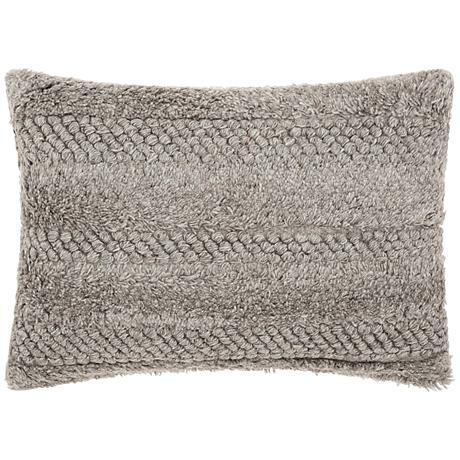 "Joseph Abboud Gray 20""x14"" Rectangular Throw Pillow"
