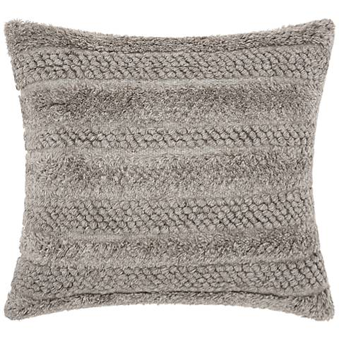 "Joseph Abboud Gray 22"" Square Decorative Throw Pillow"