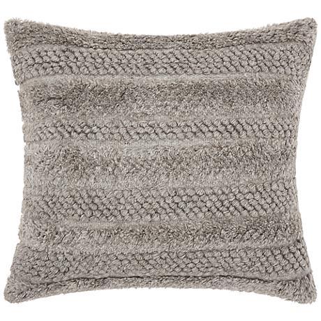 "Joseph Abboud Gray 22"" Square Decorative Throw Pillow"